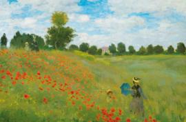 Fotobehang Idealdecor 00677 Champ de Coquelicots á Argenteuil by Claude Monet
