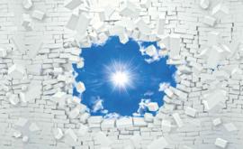 Fotobehang Blauwe Hemel