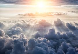 Fotobehang Boven de wolken