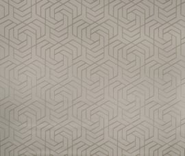 Osborn & Little Metropolis Vinyls  W7352-04 Hexagon Trellis