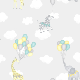 Over the Rainbow 91041 Animal Balloons Grey