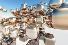 Fotobehang Zilveren kubussen