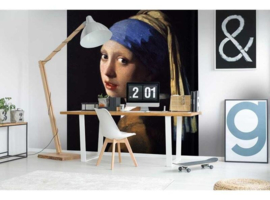 Fotobehang Meisje met de parel (Johannes Vermeer)