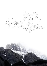 Fotowand The mountains by Kubistika afm. 200cm x 280cm hoog