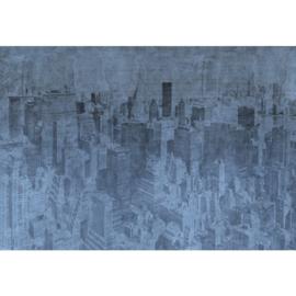 Fotobehang New York the City Blauw