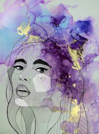 Fotowand Lady 1 by Sabrina Ziegenhorn afm. 200cm x 270cm hoog