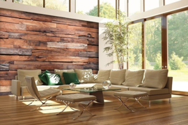 Fotobehang Idealdecor 00150 Wooden Wall