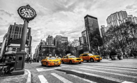 Fotobehang New York City Cabs
