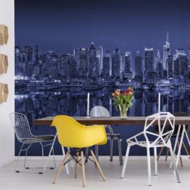 Fotobehang New York Reflections in Blue