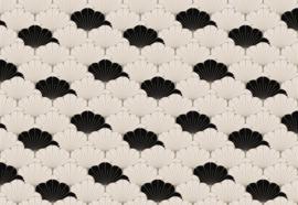 Fotobehang Zwart-wit modern patroon