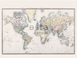 Esta photowallXL  158210 Vintage map of the world