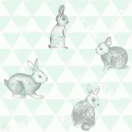 Behang Onszelf Smile - OZ 3272 konijntjes