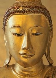 Fotobehang Idealdecor 00405 Golden Buddha