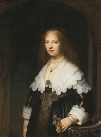 Dutch Painted Memories 8029 Portrait of a woman Rembrandt van Rijn