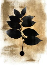 Fotowand Dark leafs by Kubistika afm. 200cm x 280cm hoog