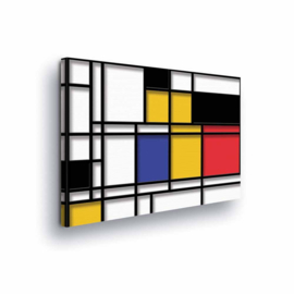 Canvasdoek Mondriaan
