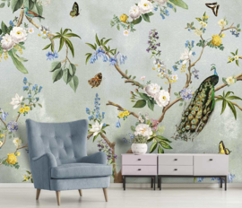 Floral Utopia INK7560 fotobehang afm. 400cm breed x 280cm hoog