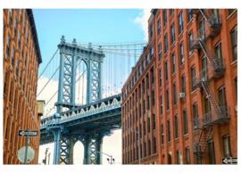Fotobehang Manhattan brug