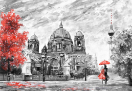 Fotobehang Berlin Art Painting