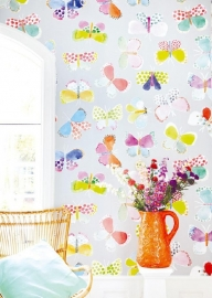 Posterbehang Eijffinger Rice 359151 Butterflies in my stomach  - grey