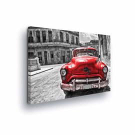 Canvasdoek Cuba Car