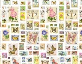Wallpaper XXL Esta Home Pretty Nostalgic 158109 stamps