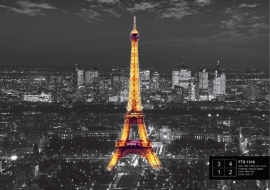 Fotobehang AG Design FTS1316 Eiffel Tower at night
