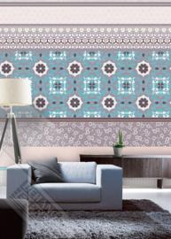 Colorful Florals&Retro fotobehang designed by INGK7310