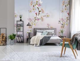 Colorful Florals&Retro fotobehang designed by INGK7297