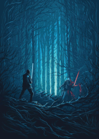 Komar Into Adventure IADX4-003 Star Wars Wood Fight 200cm x 280cm hoog