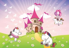 Fotobehang Princess Unicorn Castle