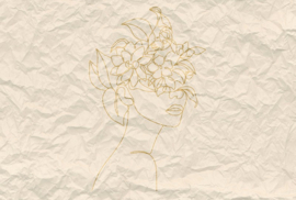 Fotowand Paper face 2 by Atelier 47 afm. 400cm x 270cm hoog
