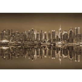 Fotobehang New York Reflections in Sepia