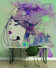 Fotowand Lady 3 by Sabrina Ziegenhorn afm. 200cm x 270cm hoog