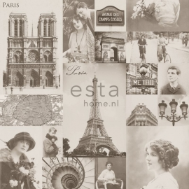Behang Esta Home Pretty Nostalgic 138148 Paris