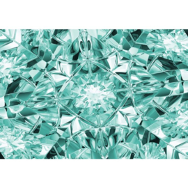 Fotobehang Facets of Luxury in Turquoise