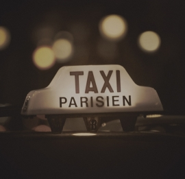 Fotobehang City Love CL23C Taxi Parisien