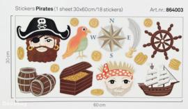 Eijffinger Junior 864003 Stickervel Pirates