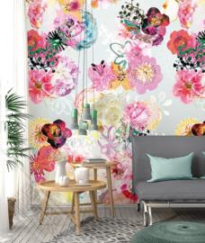 Colorful Florals&Retro fotobehang designed by INGK7298