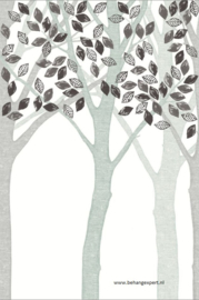 Eijffinger Wallpower Junior 364132 Grey Leaf Tree
