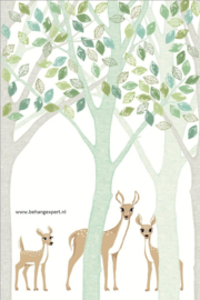 Eijffinger Wallpower Junior 364130 Deer, Leaf, Tree