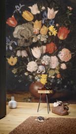 Dutch Painted Memories 8076 Bouquet of flowers in an earthenware vase