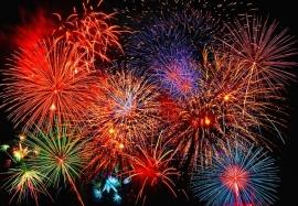 Fotobehang Idealdecor 00131 Fireworks