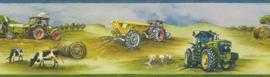 Behangrand Rasch Kids & Teens || 293302 tractors