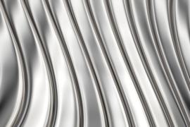 Fotobehang Metalen strips
