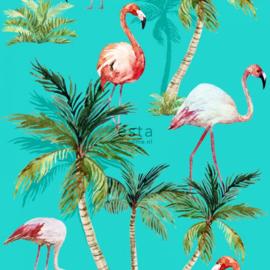Esta Cabana 158609 XXL behang flamingo's