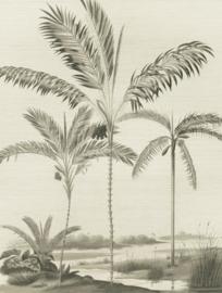 Eijffinger Oasis 317407 Wallpower Palm Portrait black & white 212cm x 280cm hoog