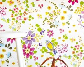 Behang Eijffinger Rice 359070 bloemen en vogels