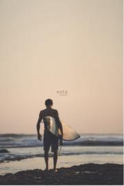 Esta photowallXL  158847 Man with surfboard