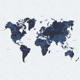 Esta photowall XL2 for kids 158853 World map navy
